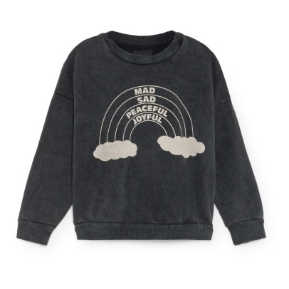 Bobo Choses Sweat Coton Bio Arc en Ciel-listing