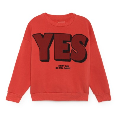 Bobo Choses Sweat Coton Bio Yes, No-listing