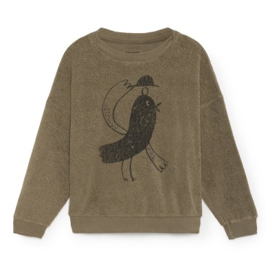 Bobo Choses Sweat Coton Bio Molleton Oiseau-listing