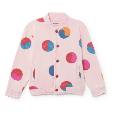 Bobo Choses Ying Yang Organic Cotton Buttoned Sweatshirt-listing