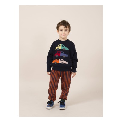 Bobo Choses Pull Laine et Cachemire Voitures-listing