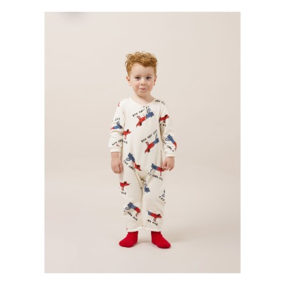 Bobo Choses Cat and Dog Organic Cotton Romper-listing