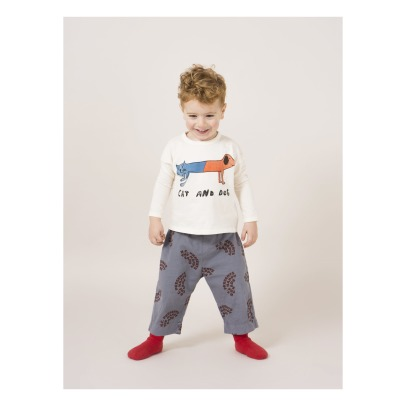 Bobo Choses Cat and Dog Organic Cotton T-shirt -listing