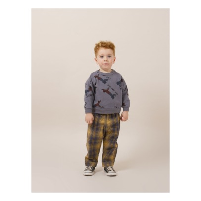 Bobo Choses Sweat Coton Bio Cats and Dogs-listing