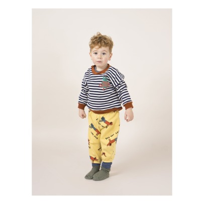 Bobo Choses Cat and Dog Organic Cotton Jogging Bottoms -listing