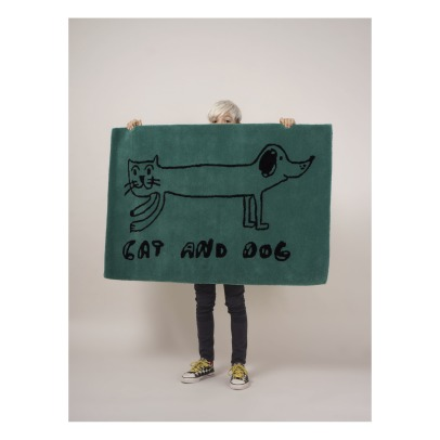 Bobo Choses Cat and Dog Woolen Rug -product