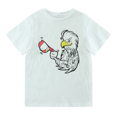 Stella McCartney Kids T-Shirt Coton Bio Aigle Tatoué Arrow-listing