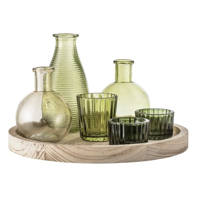 Bloomingville Wood Tray with Vases and Planters - Set of 7-listing