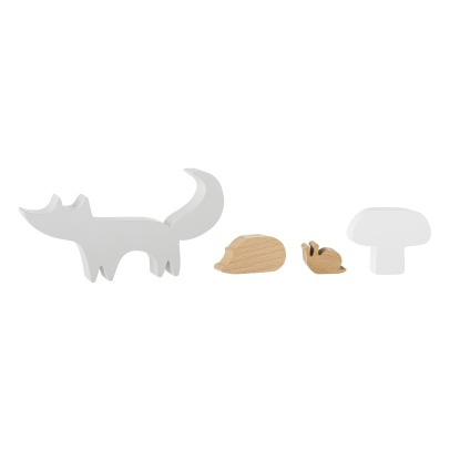 Bloomingville Kids Figurine in legno - Set da 4-listing