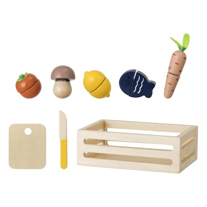 Bloomingville Kids Wooden Food Basket -listing