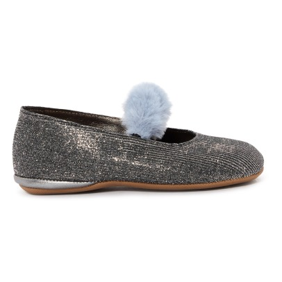 Pèpè Lurex Fur Lined Slippers -listing