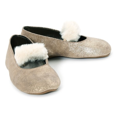 Pèpè Sequined Fur Lined Slippers -listing