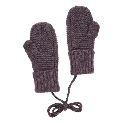 Caramel Wombat Merino Wool and Yak Hair  Mittens -product