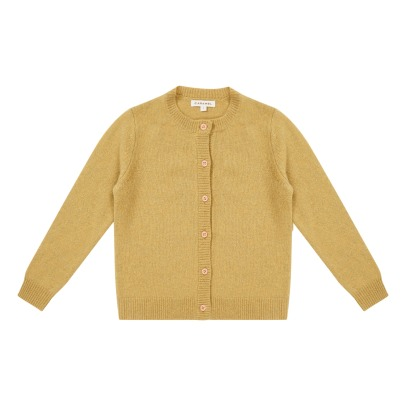 Caramel Coati Merino Wool Cardigan -product