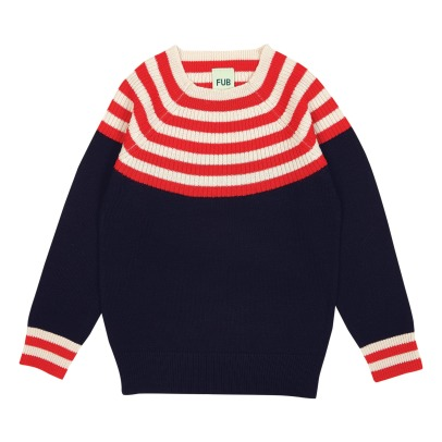 Fub Striped Woolen Jumper-listing