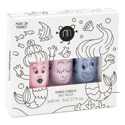 Nailmatic Kids Mermaid Nail Polishes - Set of 3 -listing