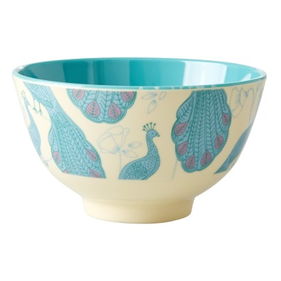 Rice Peacock Printed Bowl-listing