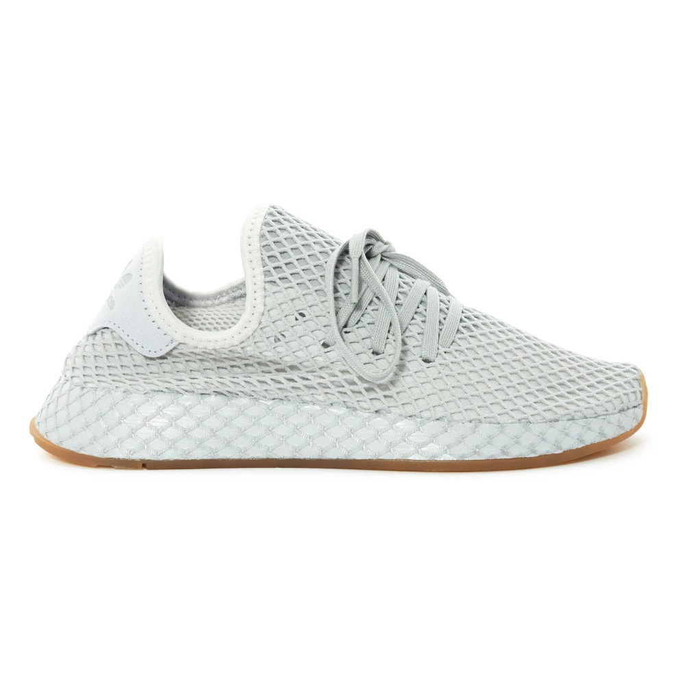 Deerupt runner merletto formatori grey le adidas adolescenti, adulti