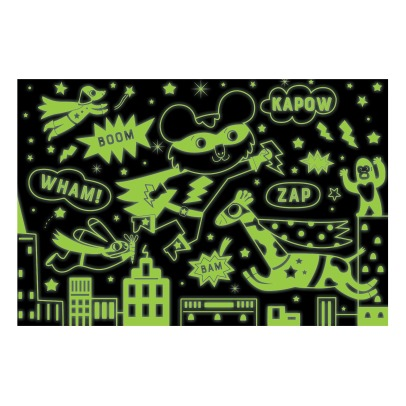 MudPuppy Superhero Glow in the Dark Puzzle - 100 Pieces - 5+ Years-listing