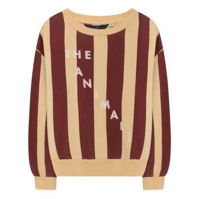 The Animals Observatory Bear Striped Sweatshirt -listing