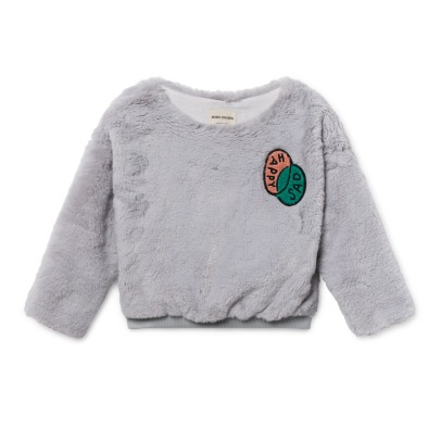 Bobo Choses Sweat Façon Fourrure Happy-listing