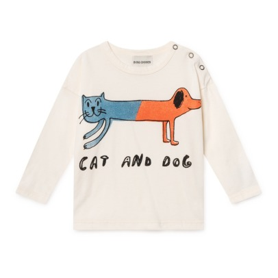Bobo Choses Cat and Dog Organic Cotton T-shirt -product