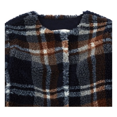 Zhoe & Tobiah Faux Fur Checked Coat -listing