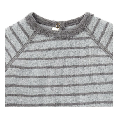 Zhoe & Tobiah Striped Knitted Jumper with Mittens -listing
