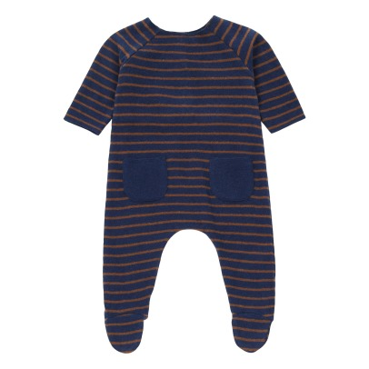 Zhoe & Tobiah Striped Footed Knitted Romper -listing