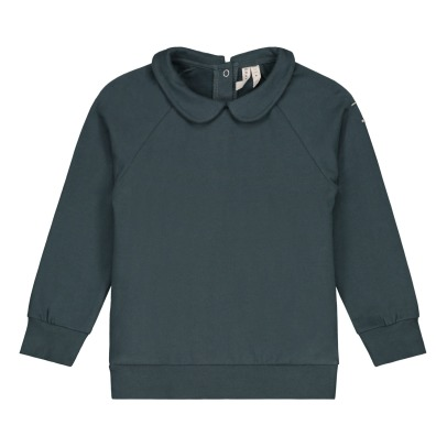 Gray Label Organic Cotton Sweatshirt with Peter Pan Collar -listing