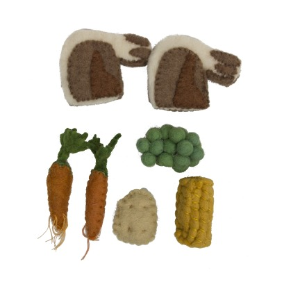Papoose Felted Wool Roasted Dinner - Set of 7-listing