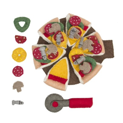 Papoose Felted Wool Pizza -listing