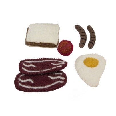 Papoose Felted Wool Breakfast -listing