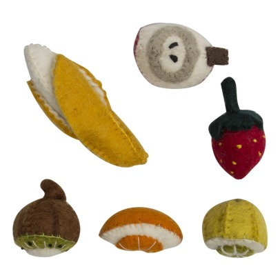 Papoose Felted Wool Fruits - Set of 6-listing