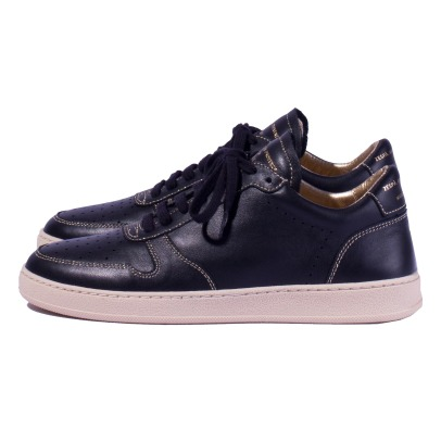 Zespà ZS23 Leather Sneakers with golden Topstitch-listing