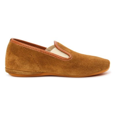 Gallucci Elasticated Suede Slippers -listing