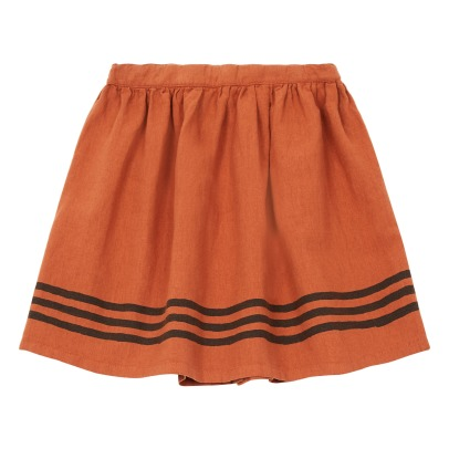 Emile et Ida Cotton and Linen Striped Skirt -listing
