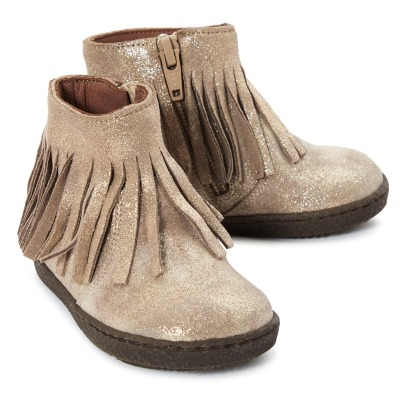 Pèpè Suede Boots with Fringes -listing