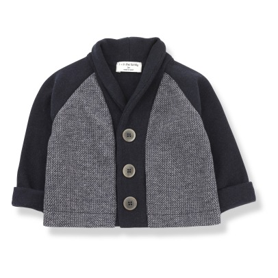 1+ IN THE FAMILY Armand Two-fabric Cardigan -listing