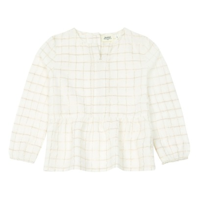 Hartford Hebron Checkered Lurex Blouse -listing