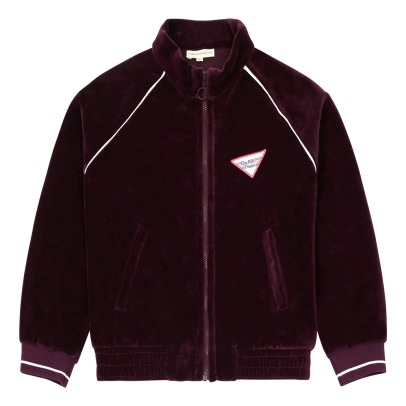Hundred Pieces Electric Dreams Velvet Zip-Up Sweatshirt-listing