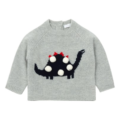 Il Gufo Pullover Dinosaurier mit Bommel -listing
