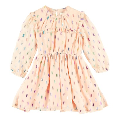 Simple Kids Pearl Silk Dress -listing