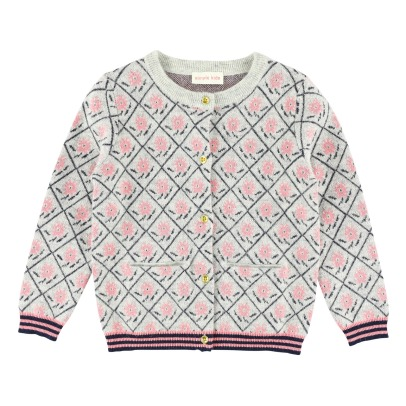 Simple Kids Roses Jacquard Cardigan -listing