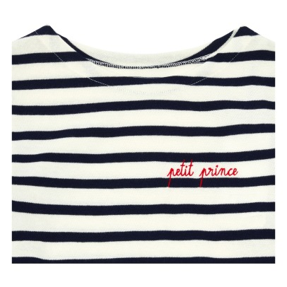 Maison Labiche Petit Prince Embroidered Striped T-shirt -listing