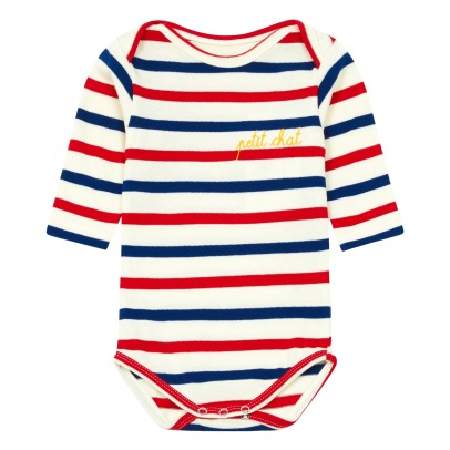 Maison Labiche Petit Chat Embroidered Striped Body -listing