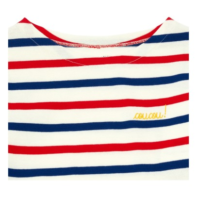 Maison Labiche Coucou! Embroidered Striped T-shirt -listing