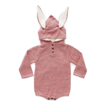 Oeuf NYC Barboteuse Capuche Baby Alpaga Lapin-listing