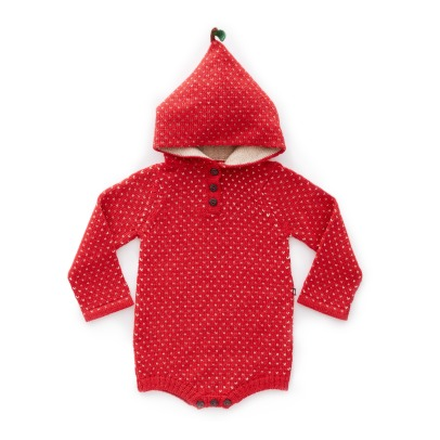 Oeuf NYC Barboteuse Capuche Baby Alpaga Pomme-listing