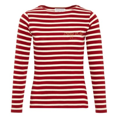 "Maison Labiche ""Crazy in Love"" Striped T-shirt - Women's Collection -listing"